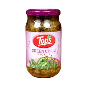 Picture of Tops green chilli pickle