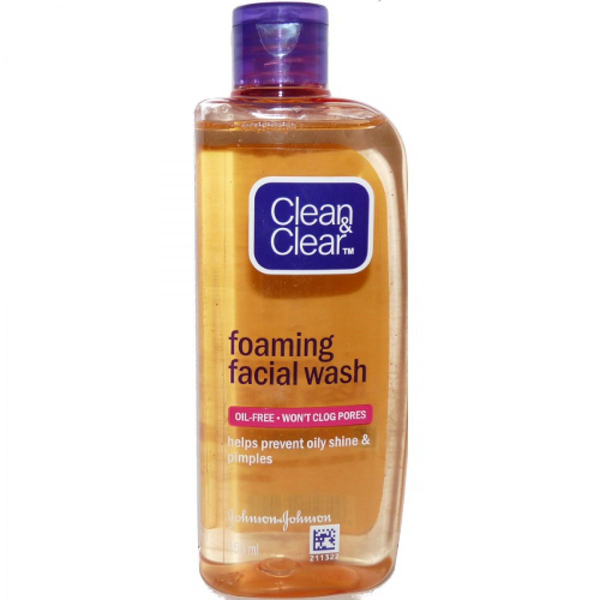 Johnson Amp Johnsons Clean Amp Clear Face Wash Lemon 100ml